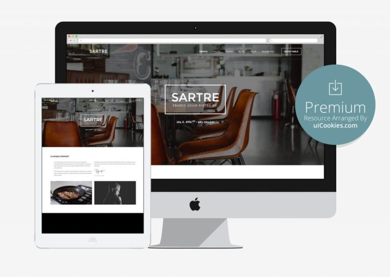 Sartre - Multipurpose Responsive Restaurant Website Theme