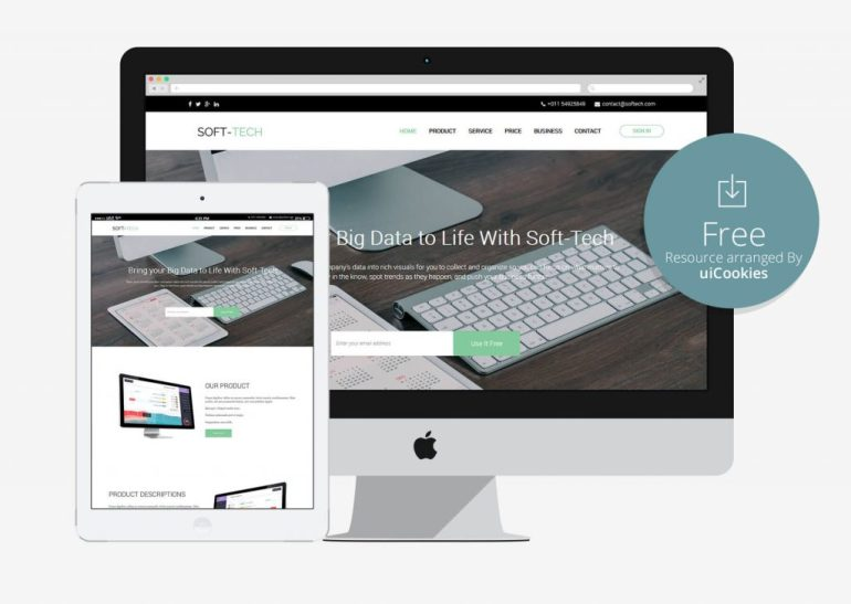 Soft-Tech - Best One Page Bootstrap HTML Template