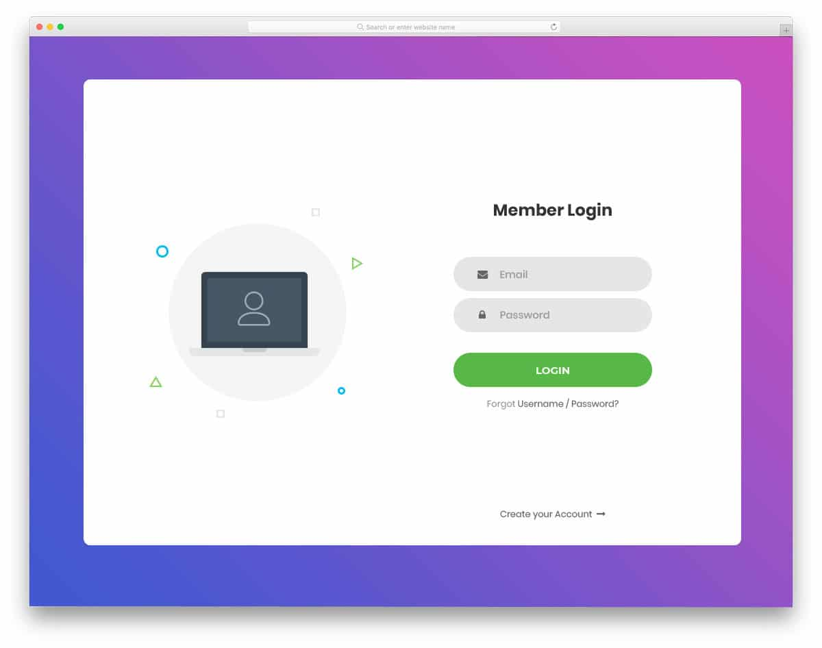 Browse over 860 html email templates and select the most suitable to your business. 40 Best Free Login Forms For Websites Apps 2021