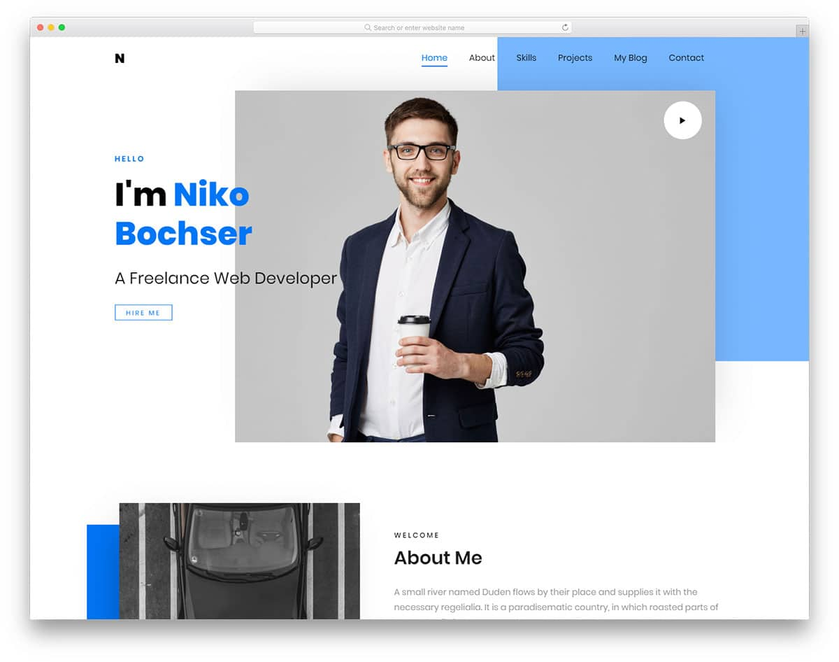 It is a free minimal cv html5 template by that allows you to build your personal cv website in less than an hour. Personal Website Templates Cicim
