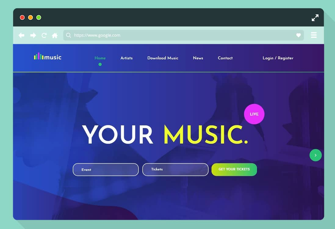 I live my daydreams in music. 20 Hand Picked List Of Bootstrap Html Free Music Template For 2020