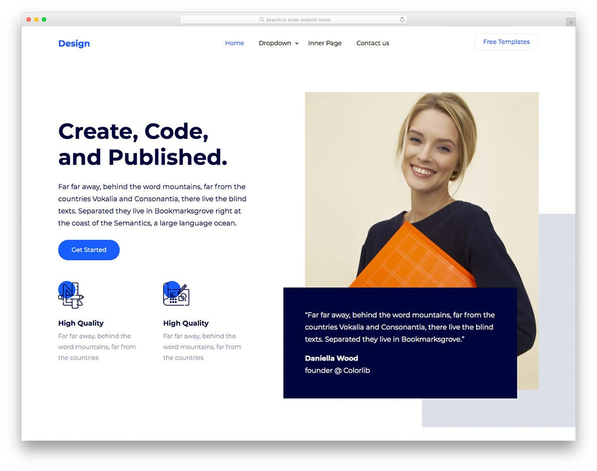 Our web items have multiple useful features you can benefit from. 50 Free Bootstrap Business Templates With A Signature Design 2021