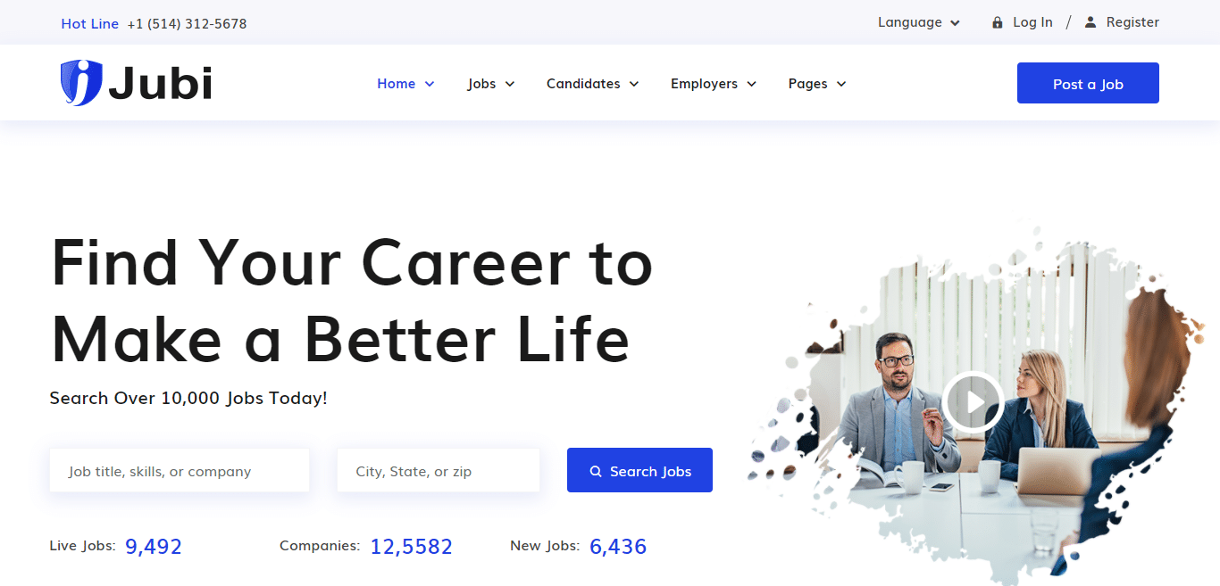 Vector illustration of people employers searching for talented job candidates. 18 Professional Human Resource Website Template For 2021
