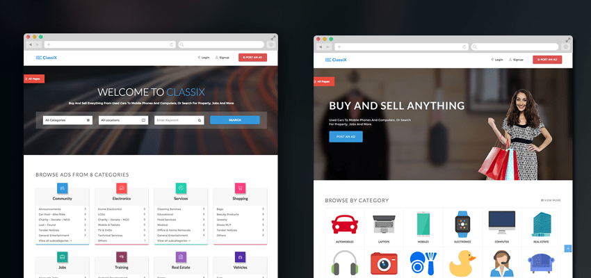 You can help yourself build all sorts of product and job listing, as well as directory websites with the easy to use classy ads. Free Responsive Classified Ads Html Website Template Theme Uideck