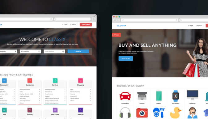 Free Classified Ads Listing Directory And Job Portal Web Templates