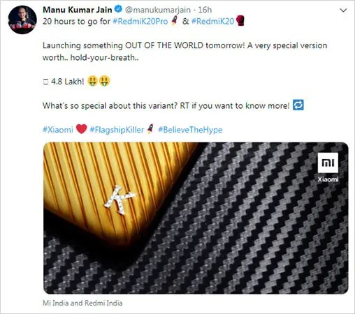 Image result for redmi k20 pro special edition