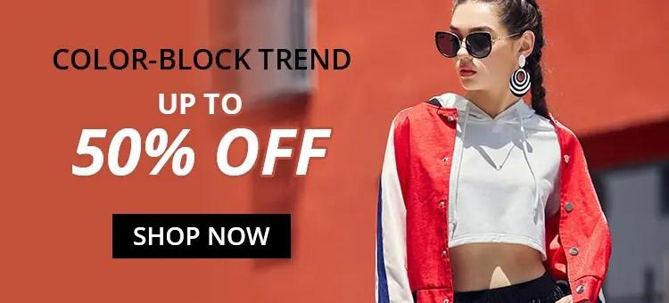 Color Block Trend promotion