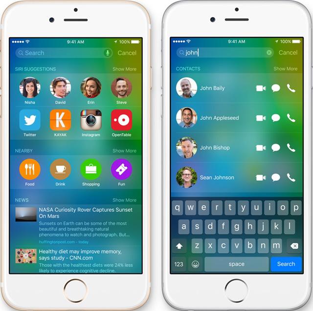 Как в iOS 9 отключить функцию Siri Suggestions