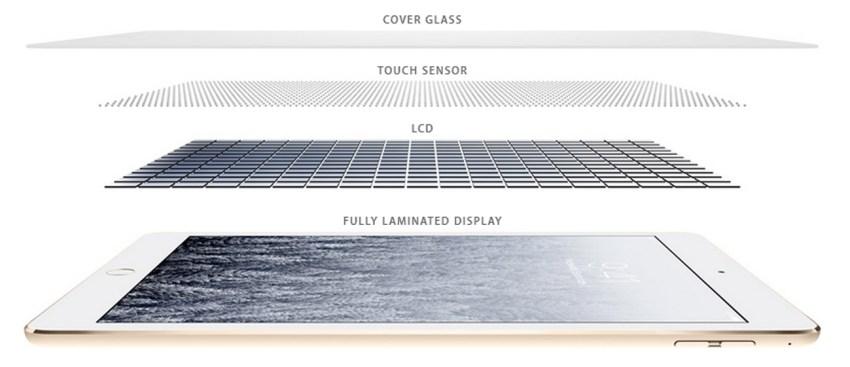 строение дисплея iPad