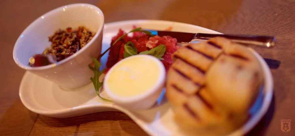 Pata Negra en flatbread bij Restaurant Fabers, Alkmaar