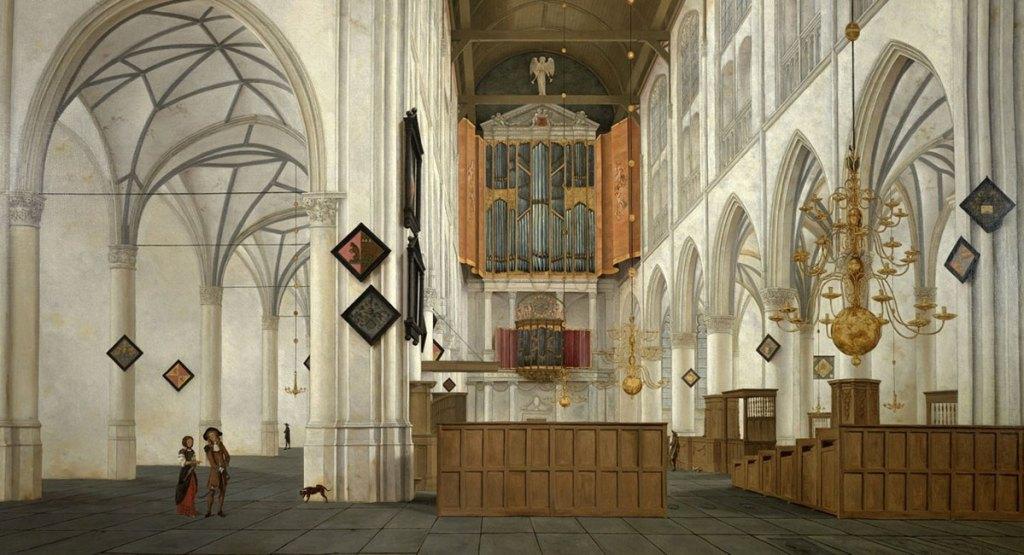 Saenredam - Interieur van de Grote Kerk Alkmaar