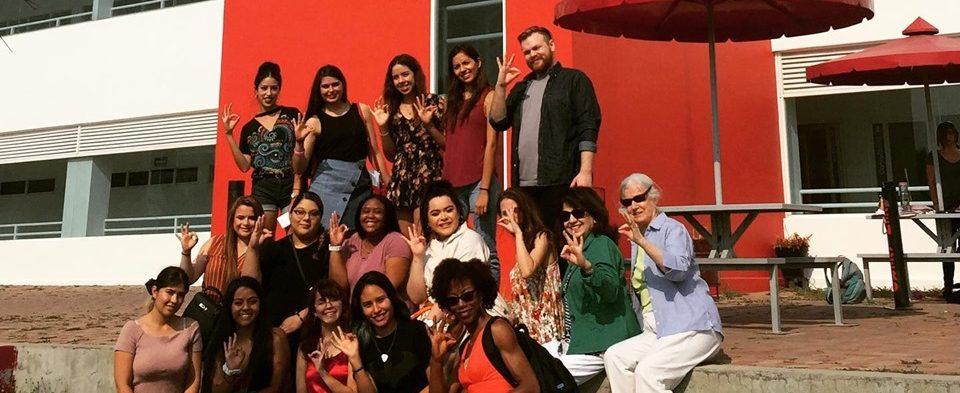 Visita de los alumnos de modas del Campus San Antonio