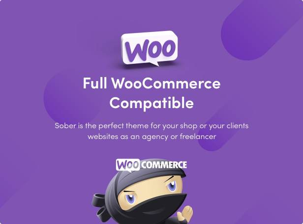 Sober WordPress theme compatible with WooCommerce