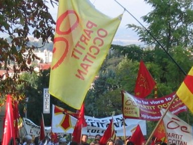 Manifestacion per l\'occitan, Carcassona, 22/10/2005