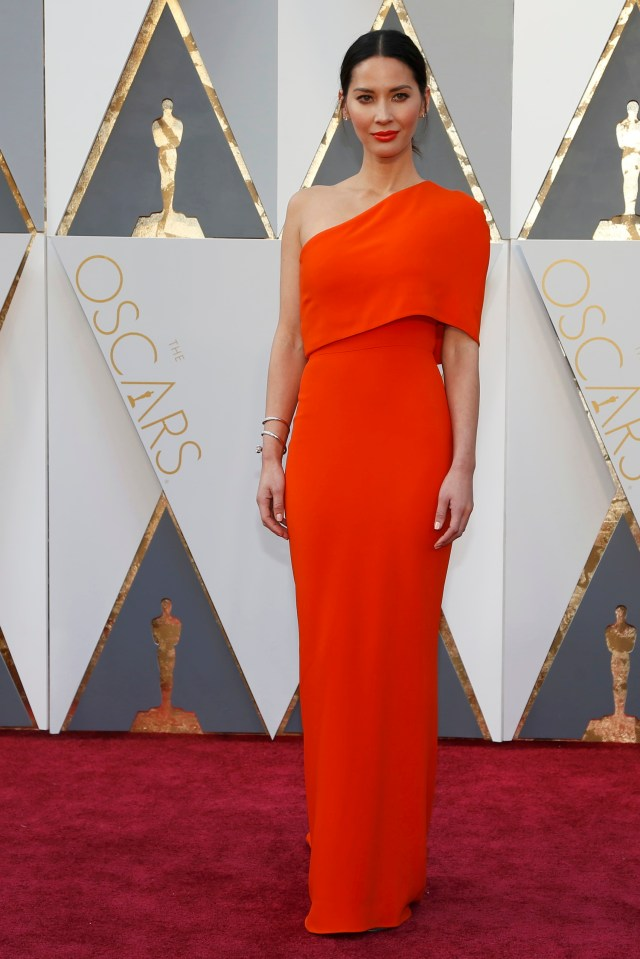 Actress Olivia Munn arrives at the 88th Academy Awards in Hollywood