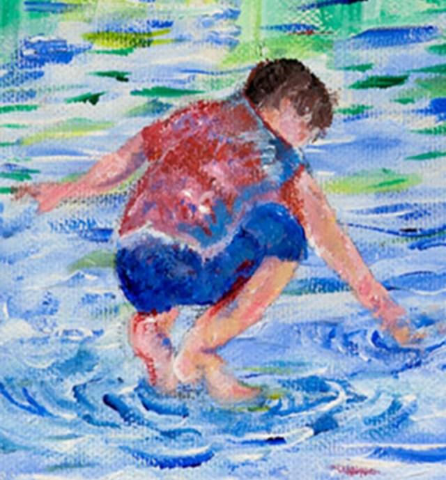 Végső béke. Hadar Goldin hadnagy festménye.