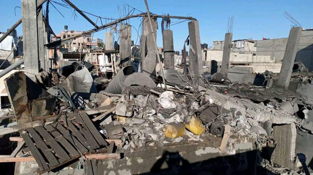 Robbanás Gázában