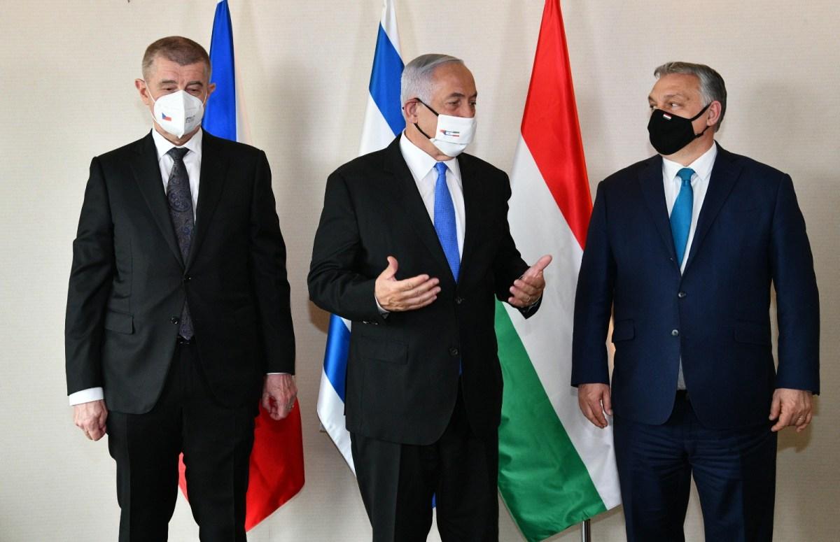 Babis, Netanjahu és Orbán háromoldalú tárgyalást folytatott Jeruzsálemben vakcinaügyben