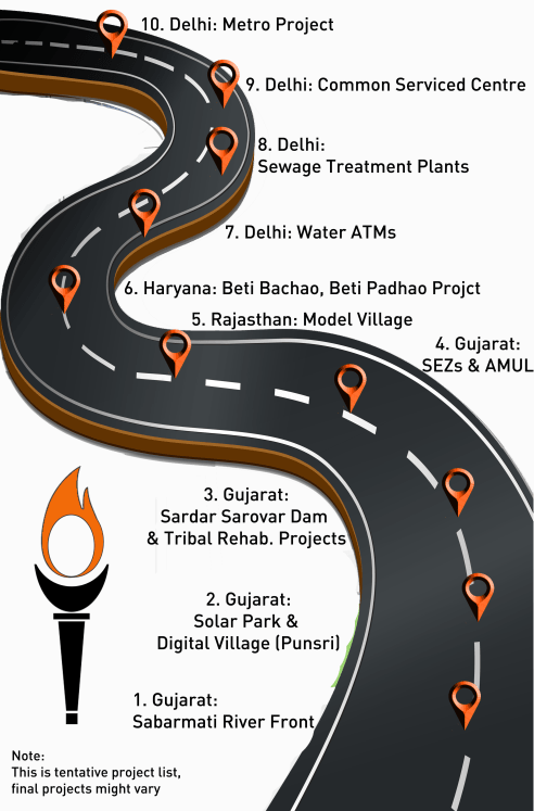 Good Governance Yatra routemap