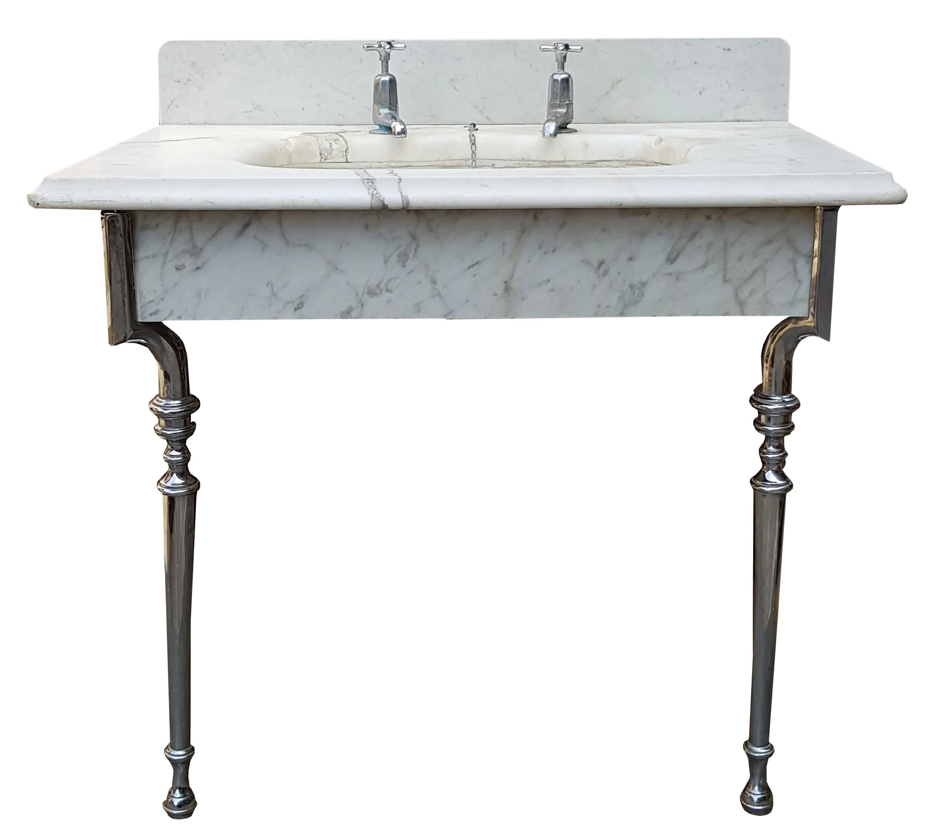 a reclaimed antique marble wash basin