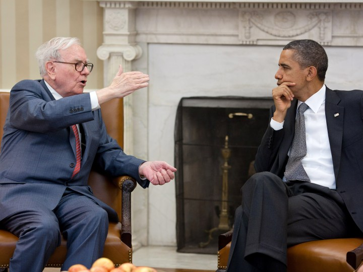 Warren Buffet with Obama