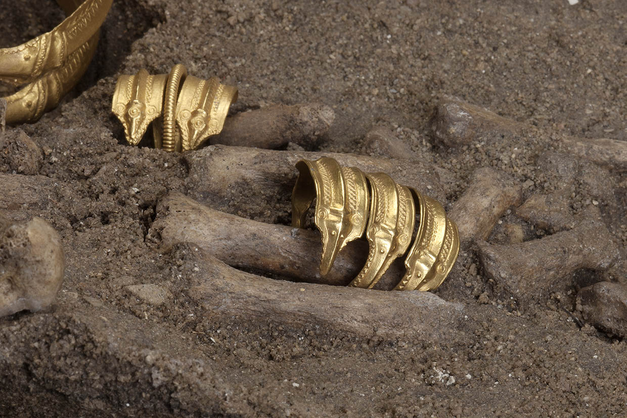 Two golden rings from Himlingøje. The grave of the woman of Himlingøje, c. 250 CE. National Museum of Denmark. Photo: John Lee