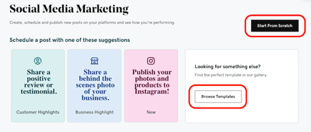 websites marketing social media
