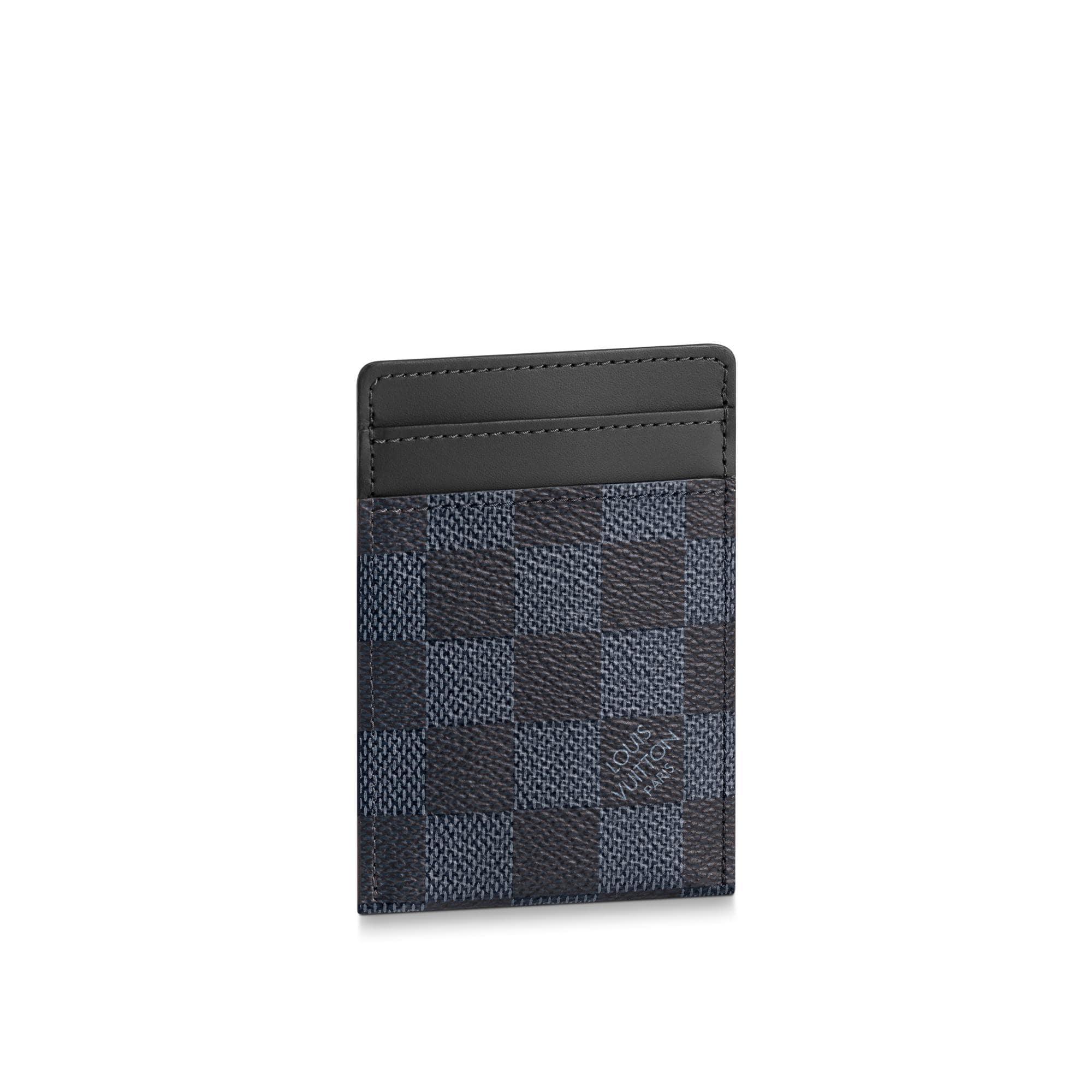 Card Holder Damier Cobalt Canvas Small Leather Goods