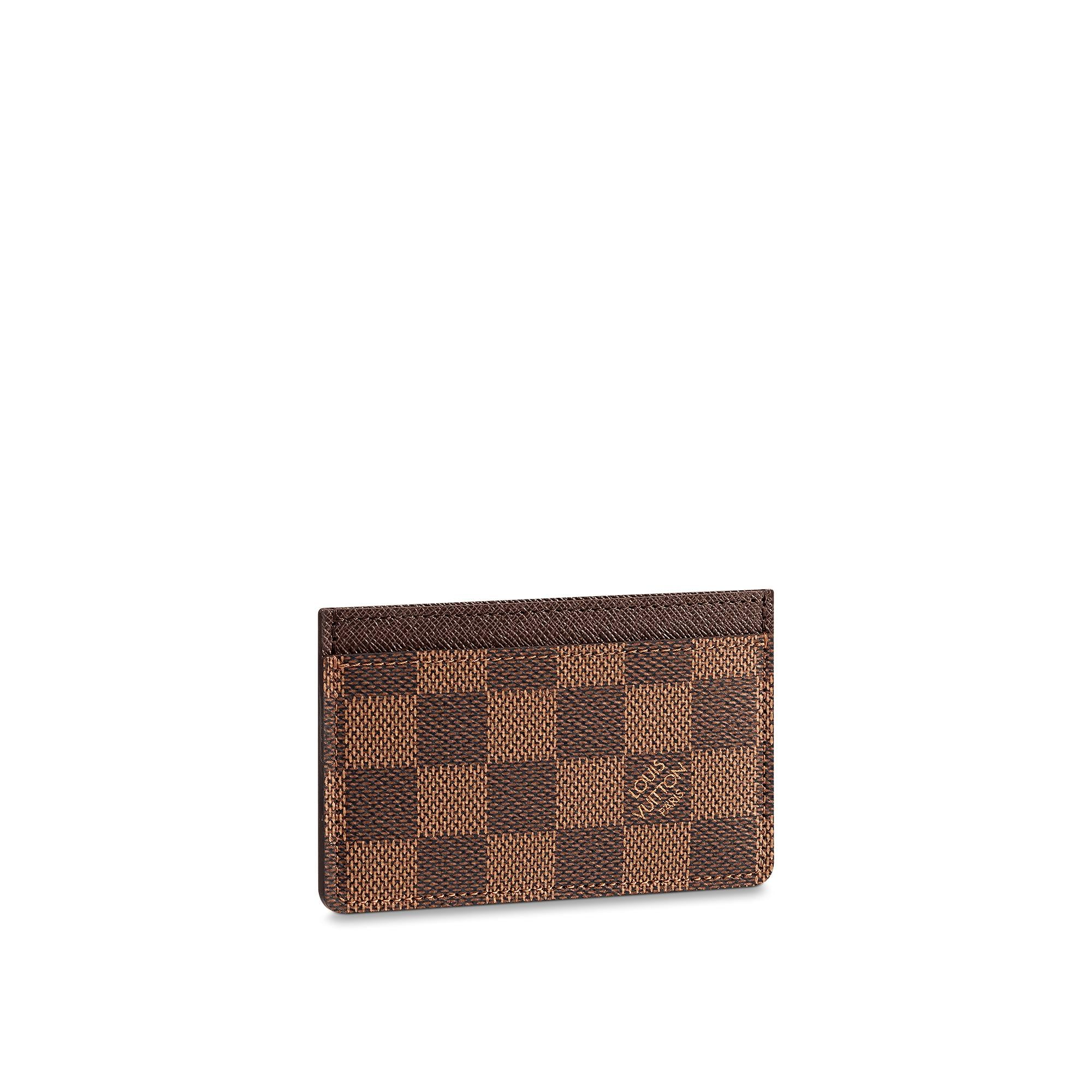 Christmas Small Leather Goods Card Holder Damier Ebene