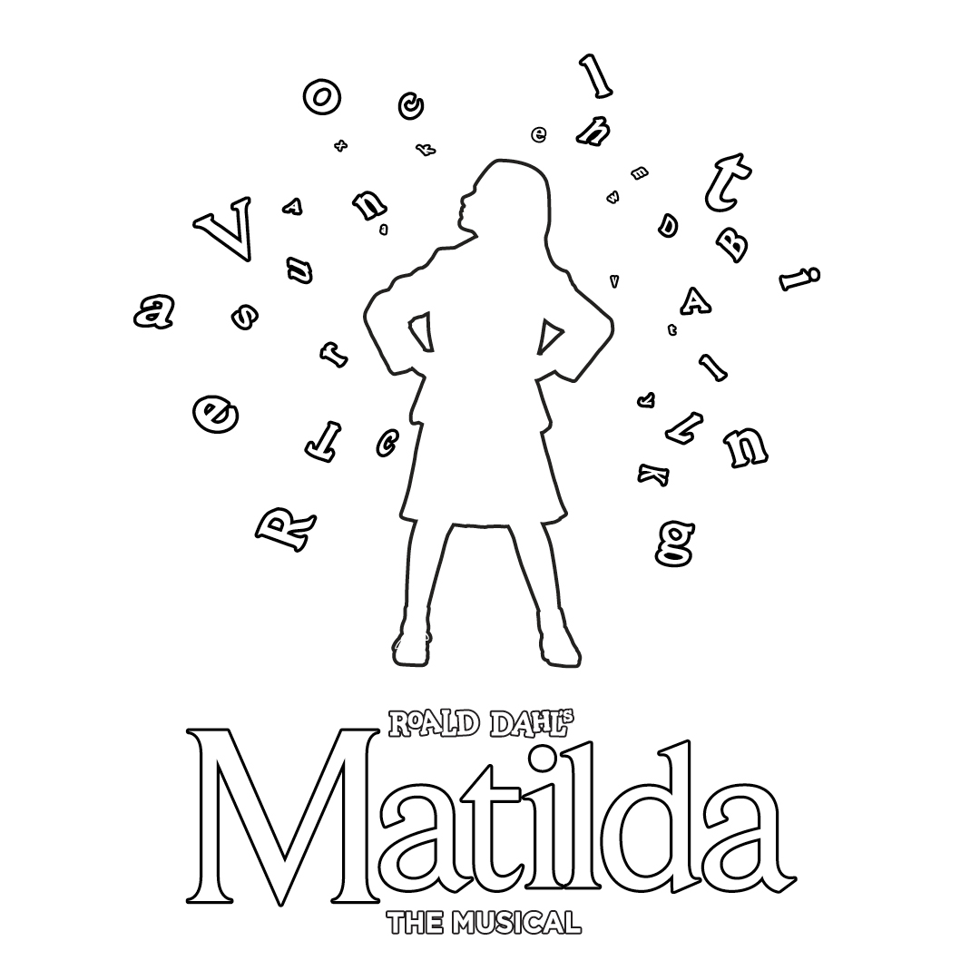 Matilda The Musical Colouring Sheets