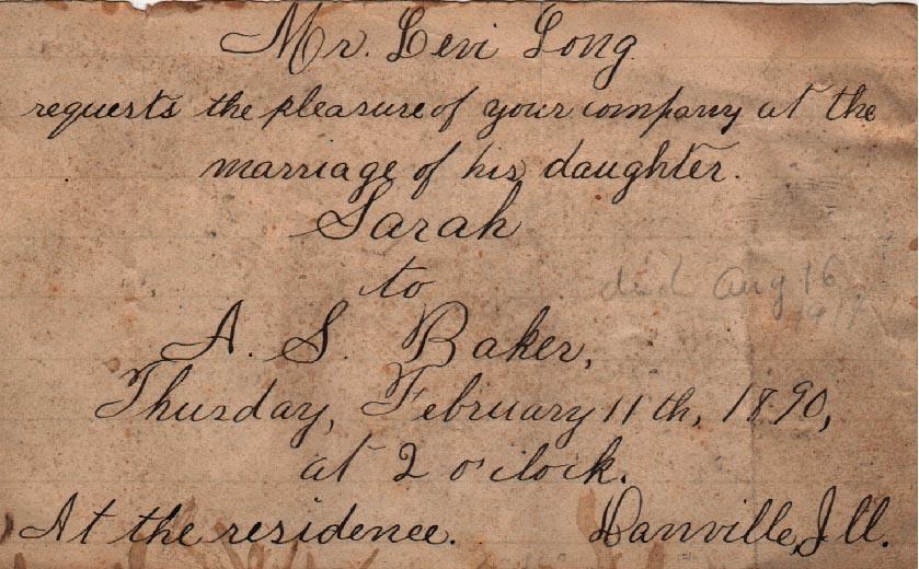 Blog - 1890- wedding invitation