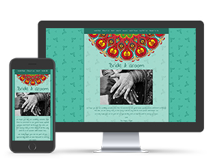 Wedding Website Indian Mandala handdrawn