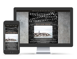 Paperless Wedding Website Chic Template
