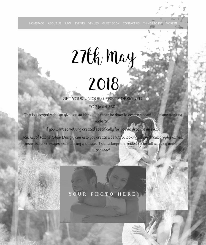 Bespoke Wedding Website