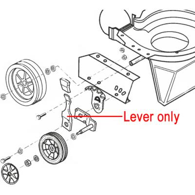 AL-KO AL-KO Height Adjust Control Lever 46579130