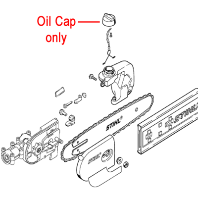 Stihl Stihl Chainsaw Oil Filler Cap 1206 640 3600