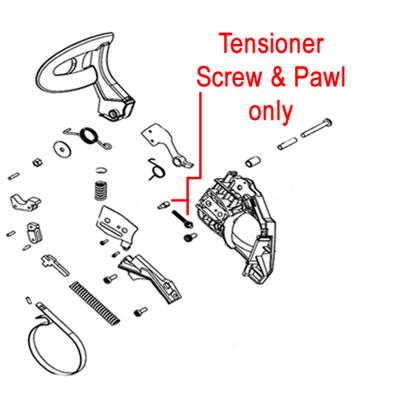 Mitox Mitox Tensioner Screw & Pawl MIYD45.04.00-24 MIYD45