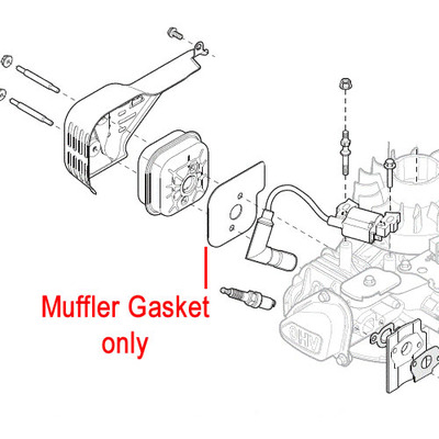 Mountfield Mountfield RS100 Muffler Gasket 118550707/0