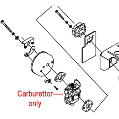 Gardencare Gardencare Blower Vacuum Carburettor 1E48FP.2