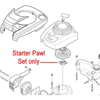 Mountfield Mountfield RS100 Engine Starter Pawl Set 118550696/0