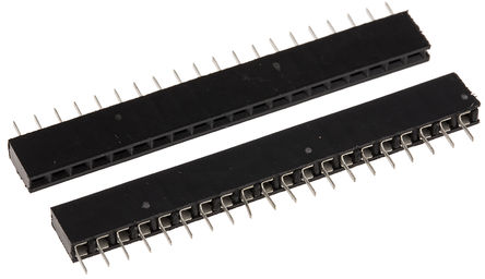 Winslow 2.54mm 20 Way 1 Row Straight Through Hole Female PCB Socket Strip
