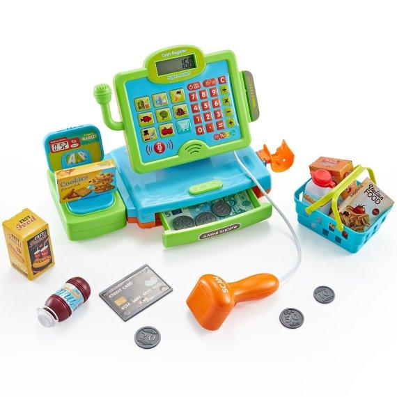 kids toy till cash register