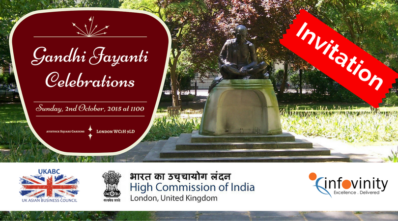 UKABC Invitation: Gandhi Jayanti celebrations and Gandhi Peace Walk , Sunday 2nd Oct 2016