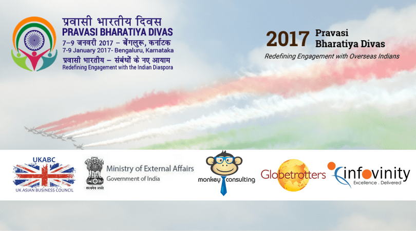 UKABC invitation: 14th Pravasi Bharatiya Divas Convention 7 to 9 January 2017, Bengaluru, Karnataka