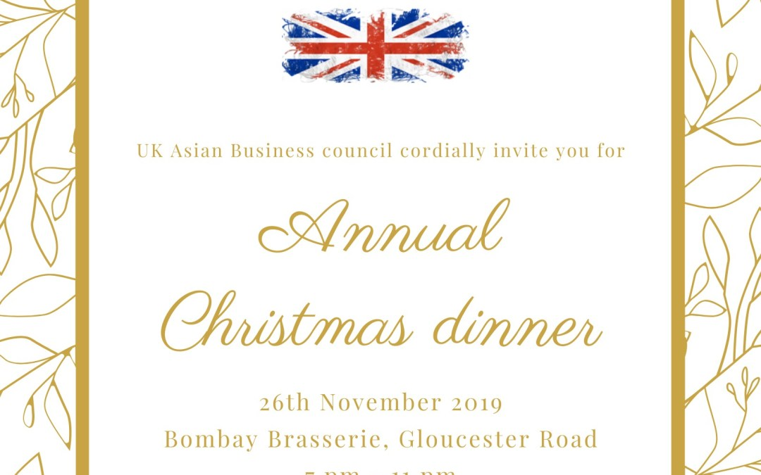 UKABC Annual Christmas Dinner, 26th November 2019 , Bombay Brasserie, London,  7 pm – 11 pm