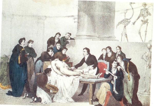 Peinture d'un cours d'anatomie