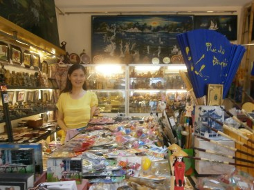 Auntie has lots of lovely souvenir items in her shop