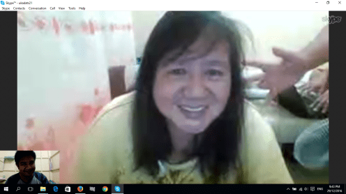 My Skype video-call with my family while waiting for the coming of the new year (1)