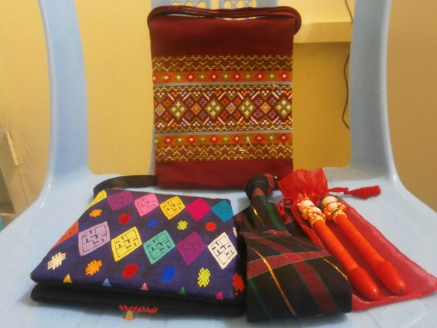 Some traditional gifts from my Year 1 students (Helena, Eliz, Mary Lu, and Hpoo)