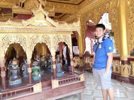 A closer look inside the pagoda